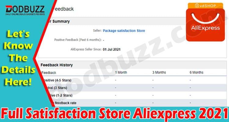 Full Satisfaction Store Aliexpress 2021