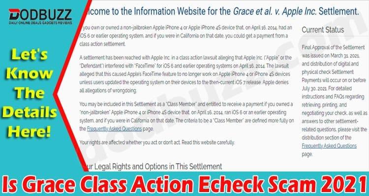Is Grace Class Action Echeck Scam 2021