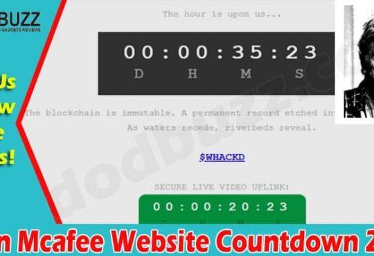 John Mcafee Website Countdown 2021
