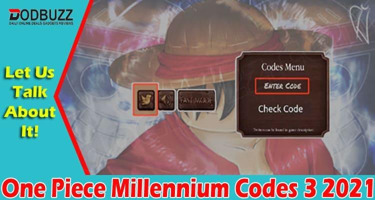One Piece Millennium Codes 3 2021