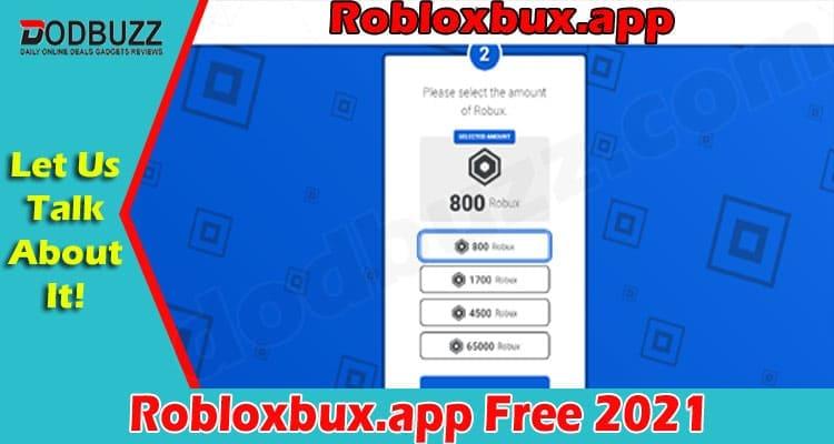 Robloxbux.app Free 2021