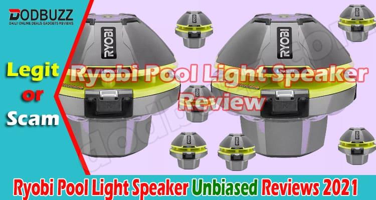 Ryobi Pool Light Speaker Review 2021.