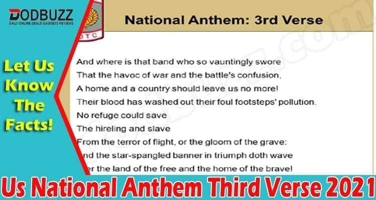 Us National Anthem Third Verse 2021