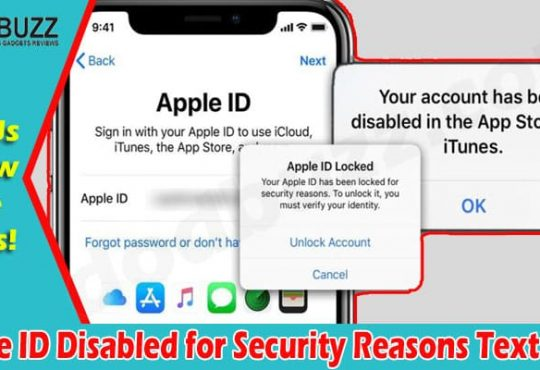 Latest News Apple ID Disabled for Security Reasons Text