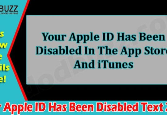 Latest News Apple ID Has Been Disabled Text