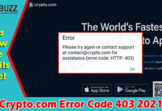 Latest News Crypto.com Error Code 403